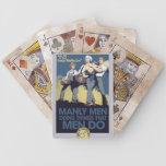 HOMBRES de hombres del humor del vintage Baraja Cartas De Poker