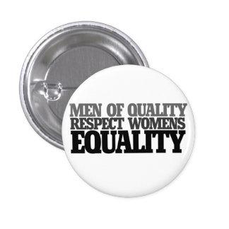 Hombres de igualdad para mujer del respecto de la pin