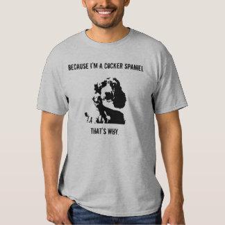 Hombres de la camiseta de la actitud de cocker poleras