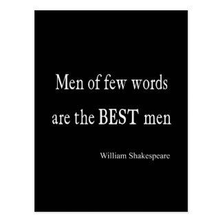 Hombres de la cita de Shakespeare los mejores de Tarjeta Postal