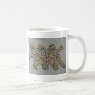 Hombres de la galleta del pan del jengibre taza de café