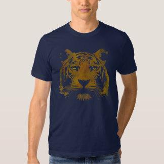 Hombres de la impresión del tigre (camisa oscura) camisas