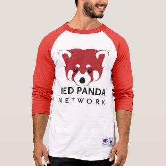 Hombres de la panda roja/béisbol unisex T Poleras