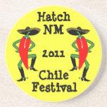 Hombres de la pimienta de Chile del práctico de co Posavasos De Arenisca