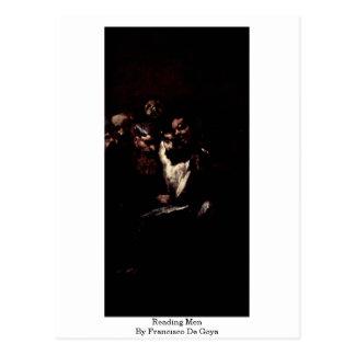 Hombres de lectura de Francisco De Goya Postales