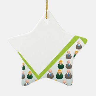 Hombres de negocios crecientes de la red adorno navideño de cerámica en forma de estrella
