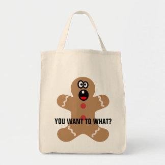 Hombres de pan de jengibre asustados las mejores h bolsa tela para la compra