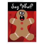 Hombres de pan de jengibre asustados las mejores tarjeta de felicitación