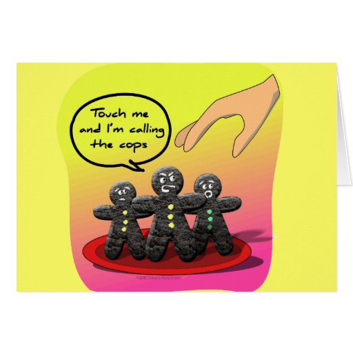 Hombres de pan de jengibre con las galletas tarjeta de felicitación