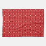 Hombres de pan de jengibre festivos toalla