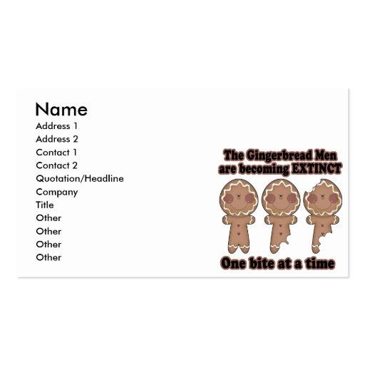 hombres de pan de jengibre que hacen extintos plantilla de tarjeta personal