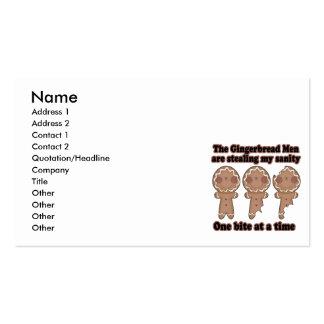 hombres de pan de jengibre que roban locura tarjetas de negocios