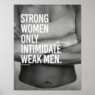 Hombres débiles del intimdate fuerte de las póster