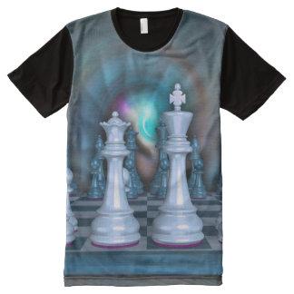 Hombres del ajedrez por todo la camiseta impresa playeras con estampado integral