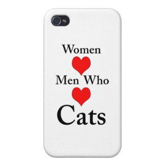 Hombres del amor de las mujeres que aman gatos iPhone 4/4S funda