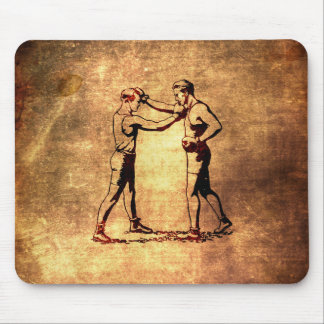 Hombres del boxeo del vintage alfombrilla de ratón