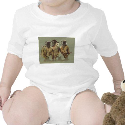 hombres del búho traje de bebé