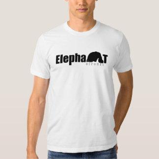 Hombres del logotipo del circuito del elefante camisas