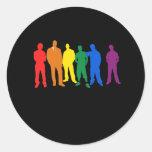 HOMBRES DEL ORGULLO GAY PEGATINA REDONDA