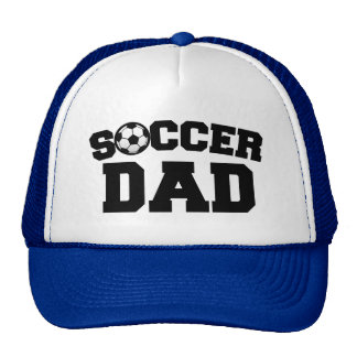 Hombres del papá del fútbol divertidos gorra