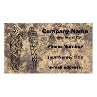 Hombres del pictograma - piedra tarjetas de visita