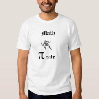 Hombres del pirata de la matemáticas camisas