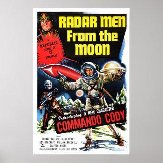 """""""Hombres del radar poster de la luna"""""""