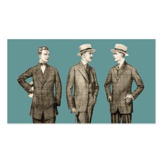 Hombres del vintage tarjetas de visita