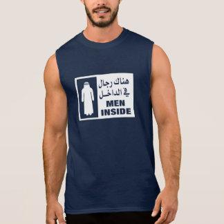 Hombres dentro de la muestra, Qatar Camisetas Sin Mangas