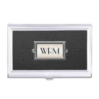 Hombres ejecutivos cones monograma 3-Letter Caja De Tarjetas De Visita