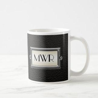 Hombres ejecutivos cones monograma 3-Letter Taza De Café