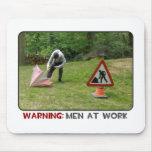 Hombres en el trabajo Mousemat Alfombrilla De Raton