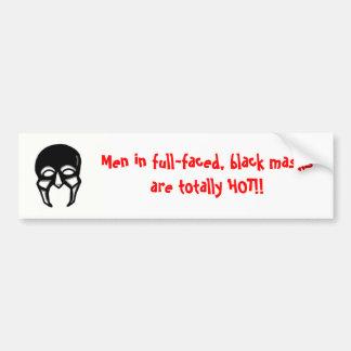 Hombres en máscaras negras…. pegatina para auto