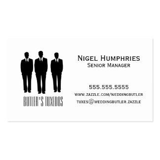Hombres en tarjeta del comercio al por menor de tarjetas de visita