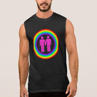 Hombres gay de los pares del arco iris playera sin mangas