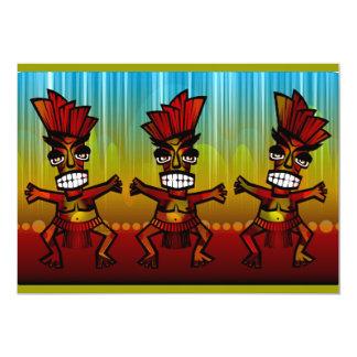 """hombres hawaianos de 1312743176_Vector_Clipart Invitación 5"""" X 7"""""""