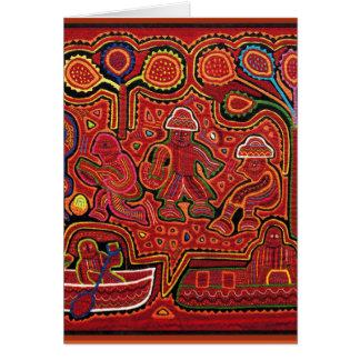 Hombres indios de Cuna en Cayucos Tarjeta De Felicitación