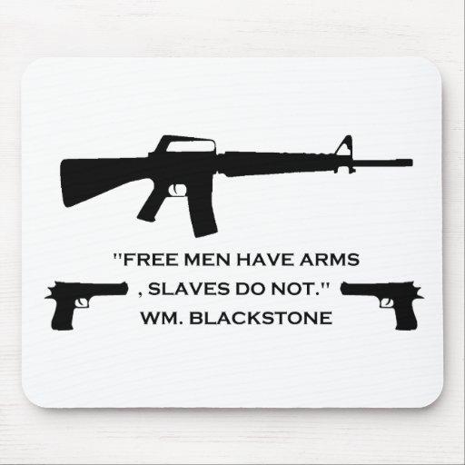 Hombres libres de arma tapete de ratón