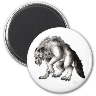 hombres lobos imanes para frigoríficos