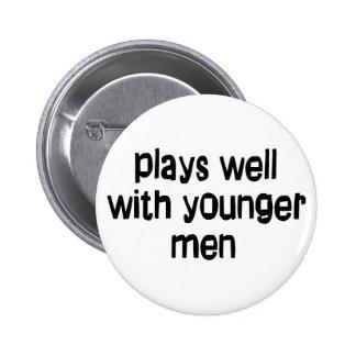 Hombres más jovenes pin redondo de 2 pulgadas