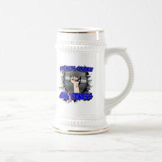 Hombres masculinos del valor de la fuerza del cánc jarra de cerveza