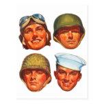 Hombres militares de la fuerza aérea de los infant postales