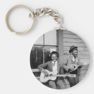 Hombres negros que tocan a Guitar, 1902 Llavero Redondo Tipo Pin