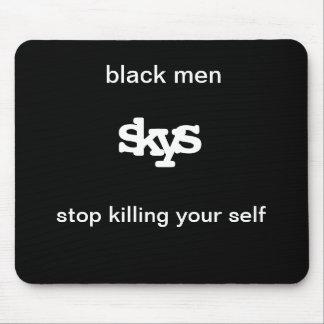 hombres negros, s, k, y, s, parada que mata a su u tapetes de raton