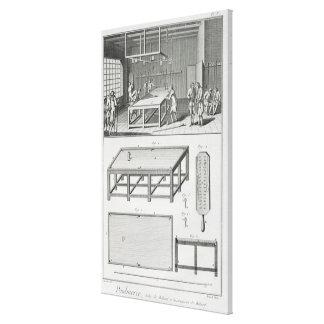Hombres que juegan billares, del 'DES de Encyclope Impresión En Lienzo Estirada