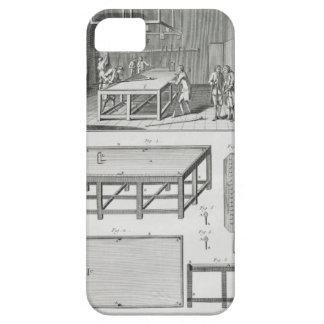 Hombres que juegan billares, del 'DES de iPhone 5 Carcasas