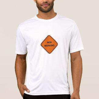 hombres que trabajan la camiseta
