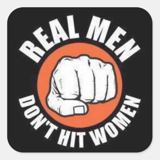 Hombres reales… calcomanias cuadradas