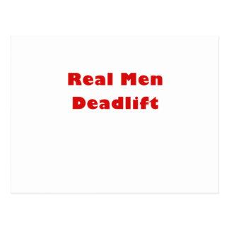 Hombres reales Deadlift Postal
