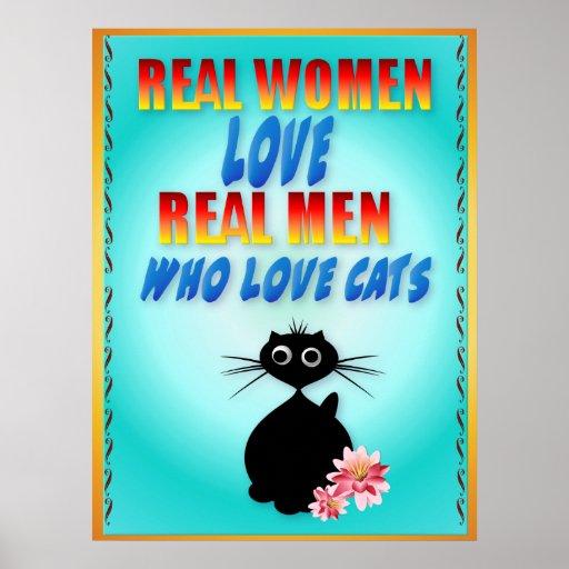 Hombres reales del amor de las mujeres reales que póster